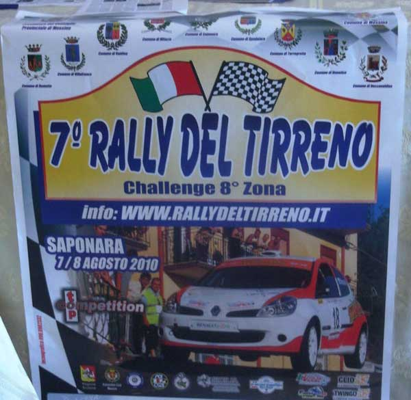 Cartellone Rally del Tirreno