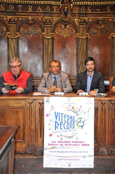 conferenza stampa seconda edizione viterbo record sala consiglio palazzo priori evento musica